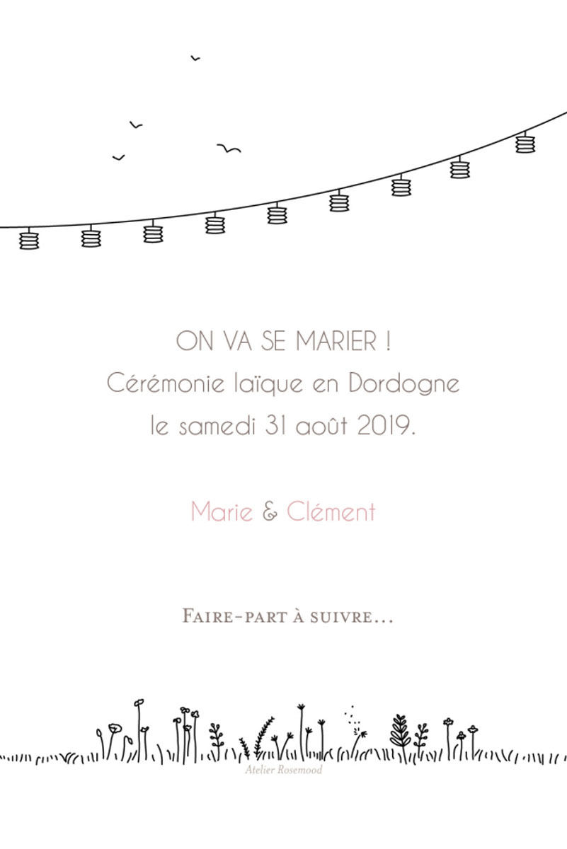 Save the date laïque