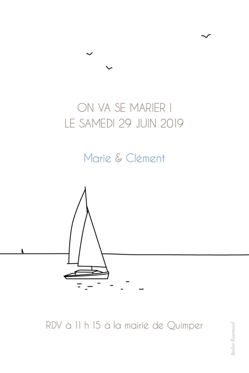save the date mariage civil
